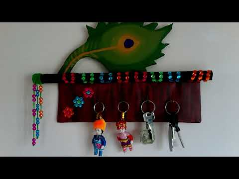 Key holder |  How to make key holder at home | wall hanging | home decoration