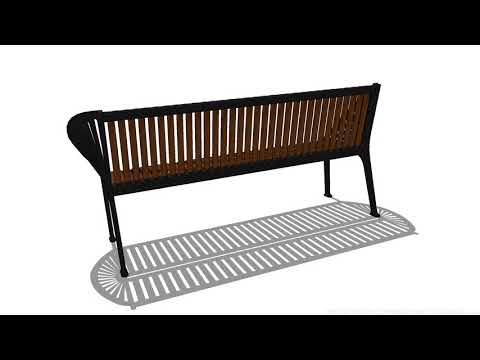 Copenhagen Bench 3D Model by CADdetails.com