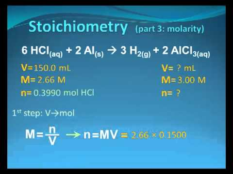 Review Of Stoichiometry Using Molarity Youtube