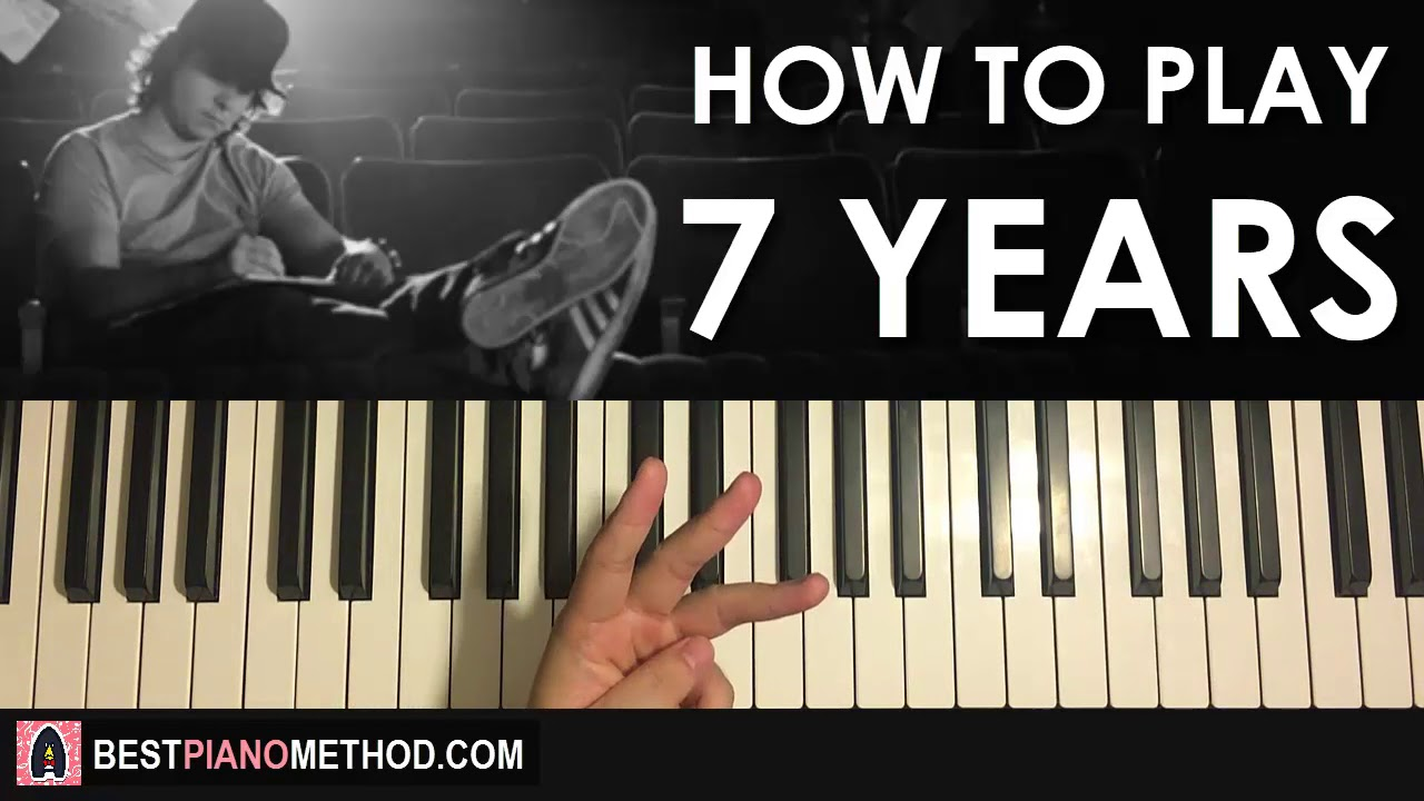7 Years Piano Sheet Music With Letters how to play - lukas graham - 7 years (piano tutorial lesson)