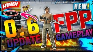 🔥PUBG MOBILE : 0.6 UPDATE FPP SHORT GAMEPLAY🎮 IN HINDI | FIRST PERSON GAMEPLAY | HINDI GAMING PUBG