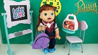 As Aventuras de Poliana Completo BABY ALIVE Sara Comilona Rotina da Escola