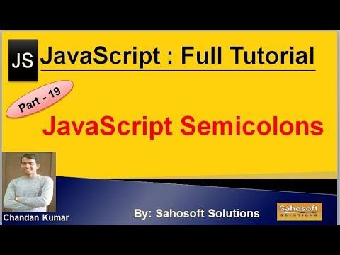JavaScript Semicolons | JavaScript Full Tutorial In Hindi
