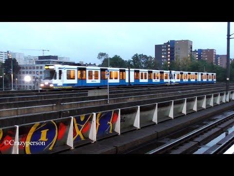GVB metro (Sneltram) en Intercity Direct Door Amsterdam Lelylaan!