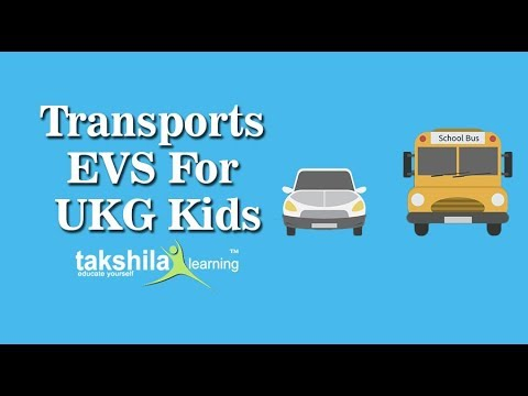 UKG EVS Online Classes | CBSE Syllabus | Transports| NCERT Solutions ...