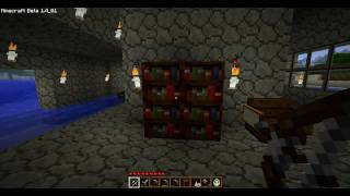 Minecraft How to Make Paper, Book and Bookshelf