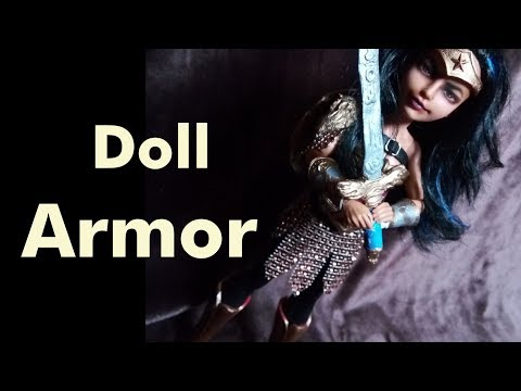 How To: Doll Armor Materials and Techniques ( Paper and glue )