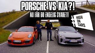 Porsche GT3RS vs Kia?! Testen I alle har ventet på!   GT3RS med Akrapovič udstødning!!