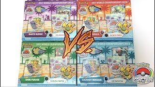 OPENING ALL 4 of THE 2017 POKEMON WORLD CHAMPIONSHIP DECKS!!
