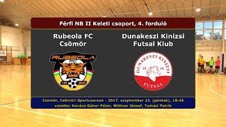 NBII: Rubeola FC Csömör - Dunakeszi Kinizsi 2-2 (2017.09.22, összefoglaló)