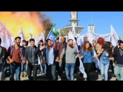 Video shows bomb exploding during peace rally