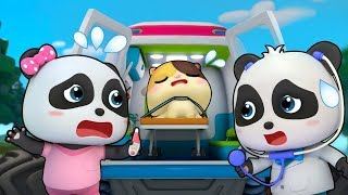 ウサギちゃんが火事で怪我した!消防車 & 救急車 出動!| スーパーレスキュー&人気動画まとめ 連続再生 | 赤ちゃんが喜ぶアニメ | 動画 | BabyBus thumbnail