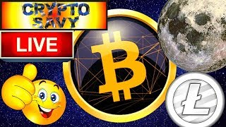 Crypto Savy LIVE STREAM !! bitcoin litecoin price prediction, analysis, news, trading