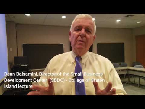 Lecture by Small Business Development Center - Study English in New York