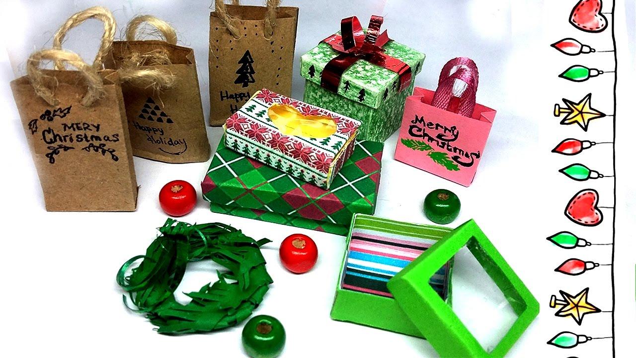 Miniature Christmas Boxes Gifts Ideas Diy Decor Box Youtube