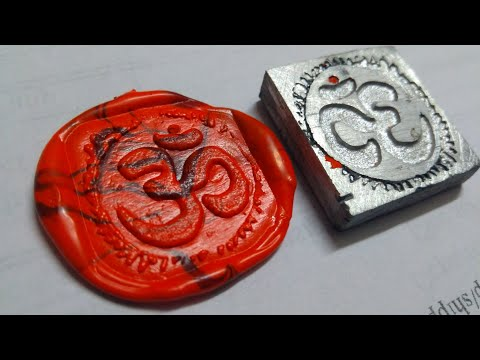 How to make Wax Seal and metal stamp