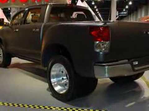 Toyota Tundra Diesel >> SEMA 2007: Toyota Tundra Dually Diesel | Autoblog - YouTube