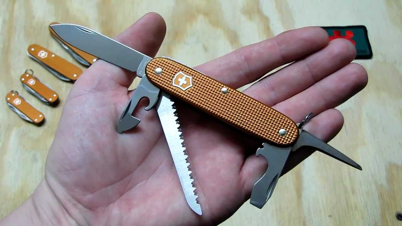 Victorinox Swissbianco Sunset Orange Alox Farmer Sak