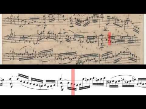 BWV 1011 - Cello Suite No.5 (Scrolling)