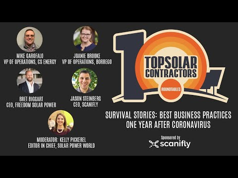 Top Solar Contractors Roundtable - Survival Stories: Best Business Practices One Year After COVID