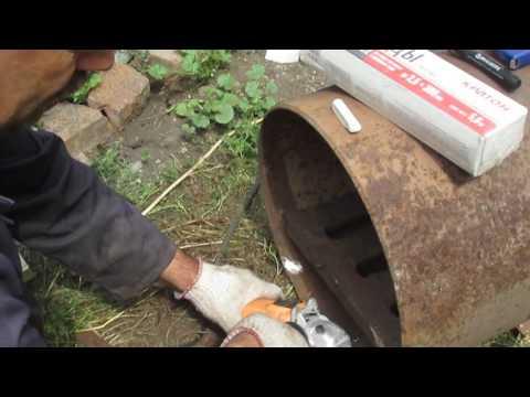 Печь для бани из трубы.