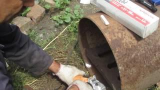 Печь для бани из трубы.(В этом видео я показываю , как можно самому сделать печь для бани из трубы. Буду рад если мой опыт кому нибуд..., 2016-08-13T17:34:55.000Z)