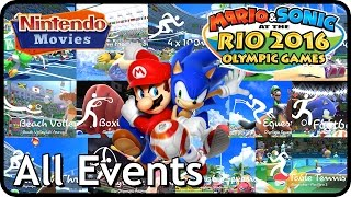 Mario and Sonic at the Rio 2016 Olympic Games - All Events (Multiplayer Co-Op) Wii U