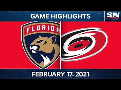 NHL Game Highlights | Panthers vs. Hurricanes - Feb. 17, 2021