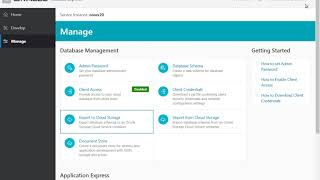 Export and Import Data to Oracle Storage Cloud (Exadata Express) video thumbnail