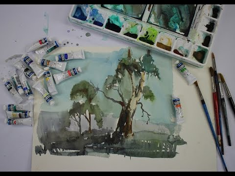 Demonstration: Derivan Watercolour Tubes