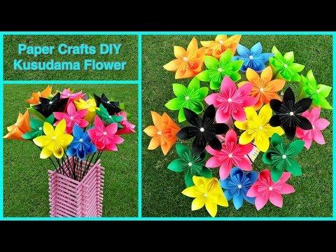 How to make a Kusudama Paper Flower   Easy & Simple Origami Kusudama   DIY Paper Crafts