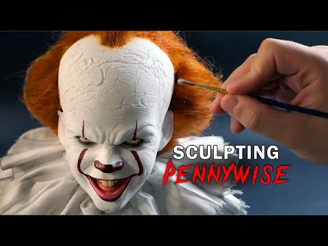 Pennywise Sculpture Timelapse - IT Chapters 1 + 2
