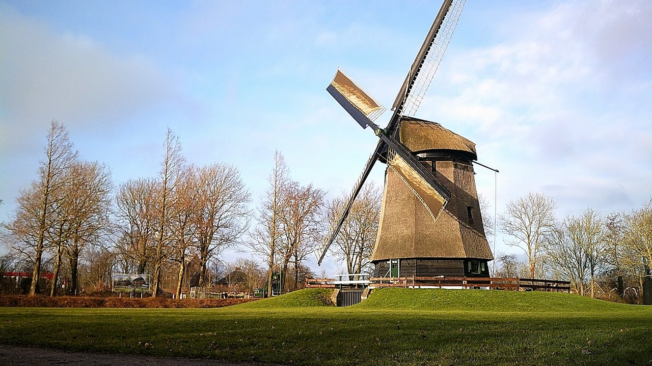 beautiful old dutch windmill build in 1531 the netherlands