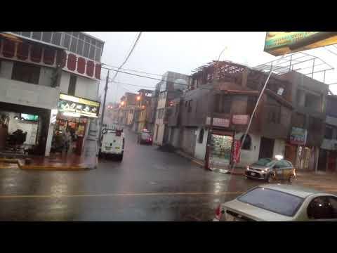 Arequipa soportó esta tarde lluvias torrenciales A.V. Jesús 2019