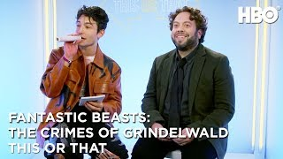 Ezra Miller & Dan Fogler: This or That | Fantastic Beasts: The Crimes of Grindelwald (2018) | HBO