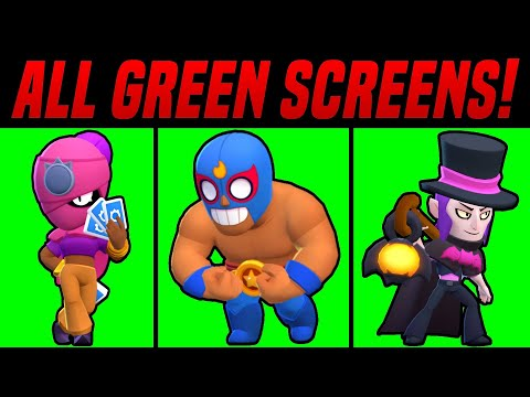 ALL BRAWLERS GREEN SCREEN ANIMATIONS AND VOICES (DOWNLOAD LINK)PACK
