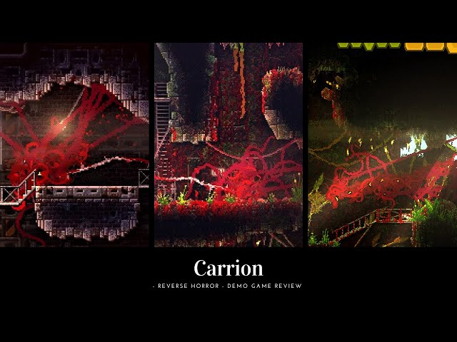 """1 min Game Review: Carrion Demo Review """" OH GOD THE HORROR....THE HORROR!!"""""""