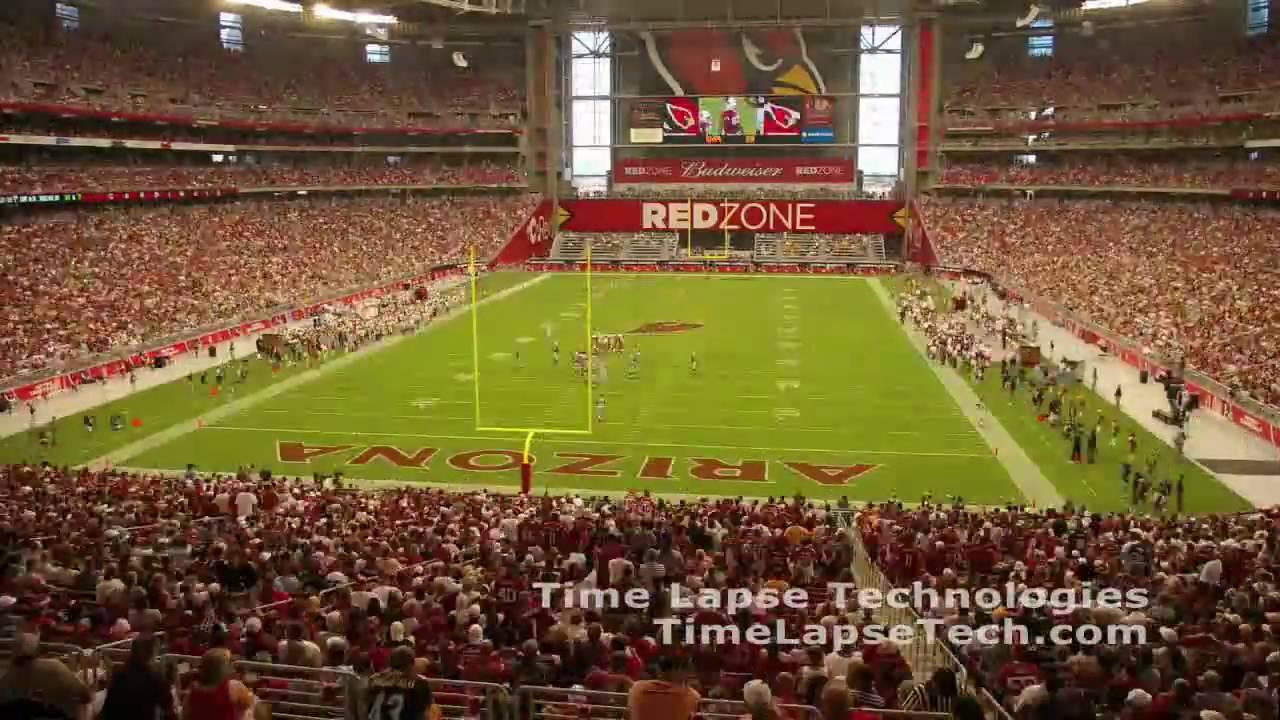 Arizona Cardinals Stadium opening day time lapse