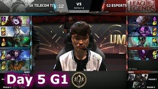 SK Telecom T1 vs G2 eSports | Day 5 LoL MSI 2017 Group Stage | SKT vs G2 Mid Season Invitational