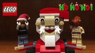 LEGO Santa Claus Set Christmas Exclusive 2016 Review and Story!!