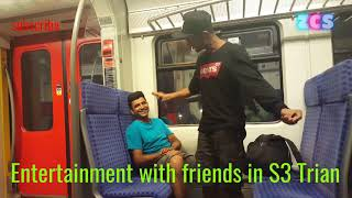 Entertainment with friends in S3 Train