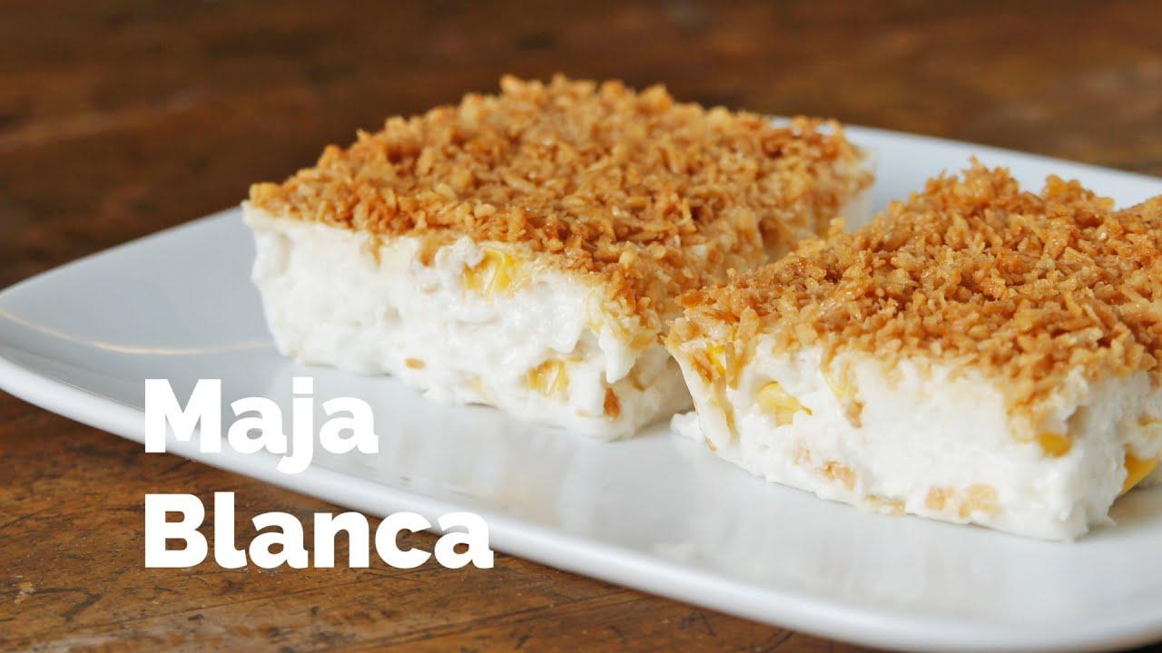 Maja Blanca (Coconut Pudding with Sweet Corn)