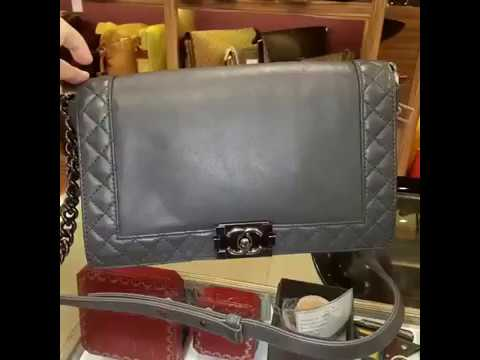 77931f9645eb CHANEL Le Boy Reverso Flap Bag - YouTube