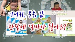 임신출산육아 비용 정리 1편- 한 달 기저귀값, 분유값…