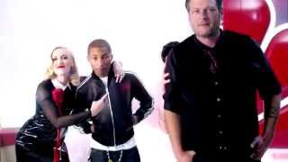 The Voice Season 7 Promo featuring Coaches Gwen Stefani, Pharrell, Blake Shelton and Adam Levine
