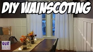 How to Install Wainscoting Cheap and Easy - OurHouse DIY