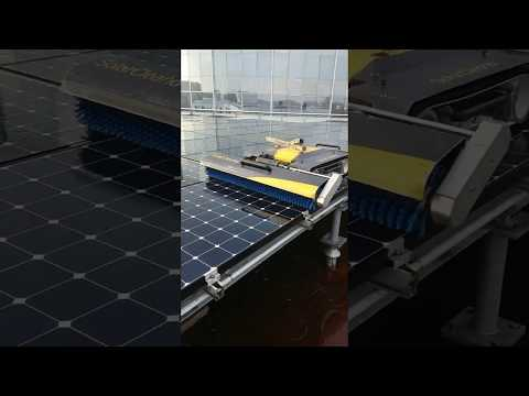 VOLTANET - SOLAR PANELS CLEANING ON FLAT ROOF