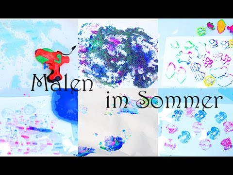 Malen Mit Kindern 6 Kreative Ideen Im Sommer Seifenblasen Sand