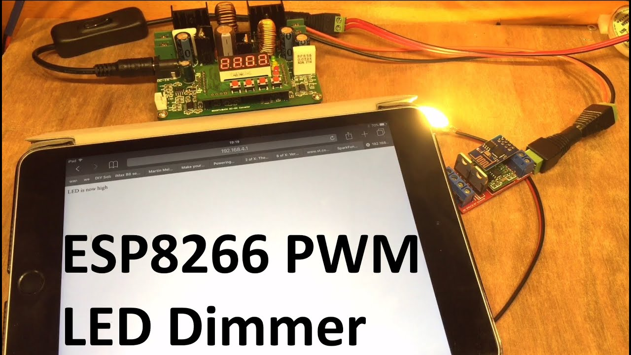 Esp8266 Pwm Led Dimmer 12v Solar Shed Youtube Using Ne555