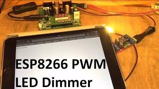 ESP8266 PWM LED Dimmer - 12v Solar Shed